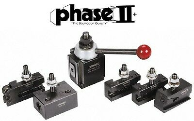 Phase Ii Tool Post Set 5 Holders Piston Bxa 10 To 15 Lathe Swing