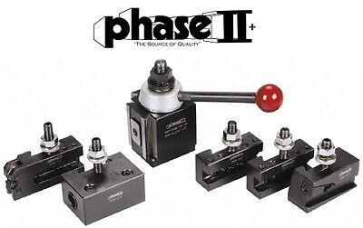 Phase Ii Tool Post Set 5 Holders Piston Axa 9 To 12 Lathe Swing