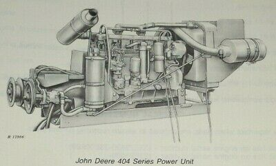 John Deere 404 Series Power Unit Engine Parts Catalog Manual Up To Sn 214999