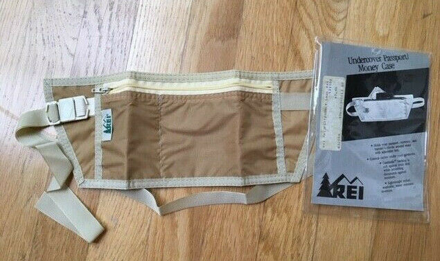 NEW REI Travel Passport Money Security Waist Case Belt Adjustable Zipper - $3.99