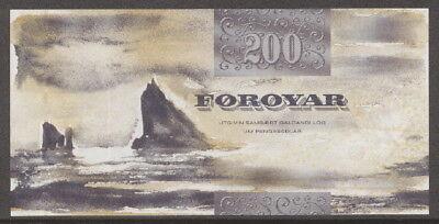 Färöer / Faeroe Islands - 200 Kronur 2003 UNC - Pick 26