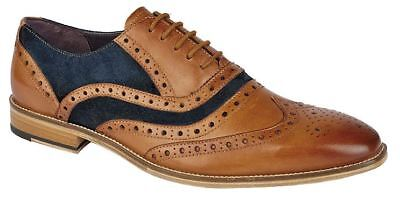 Eyelet Lace Up Mens Dress (Mens Shoes Leather Lace Up 5 Eyelet Brogues Oxford Formal Dress Size)