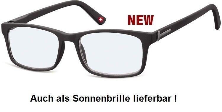 Lesebrille Montana MR73 schwarz matt Damen und Herren Lesehilfe Fertigbrille
