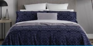 Sheridan Queen Quilt Cover Set 300TC Navy St Peters Marrickville Area Preview