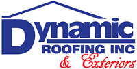 Dynamic Roofing & Exteriors. Specials on now for exterior work!