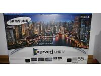 "Samsung 55"" 55MU6220 UHD Smart Curved Tv. New boxed"