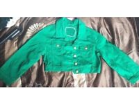 Lovely green cropped summer jacket size 10