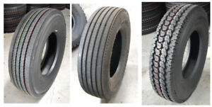 11R22.5;11R24.5;295/75R22 NEW TRUCK,STEER,TRAILER TIRES