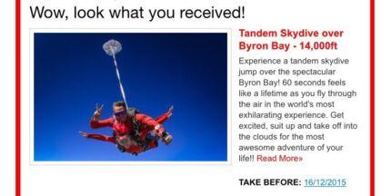 For Sale - Sky Diving 14,000ft Voucher Byron Bay Sunnybank Hills Brisbane South West Preview