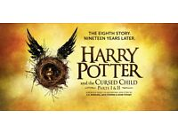 Harry Potter & the cursed child- Parts I and II (Dress Circle- Premium seats) 2 tickets
