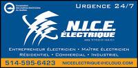 Électricien 24/7 **OUVERT DURANT VACANCES**