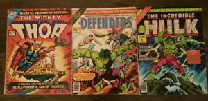 Marvel Treasury Giant Comics Thor #3 Defenders #16 Hulk #17