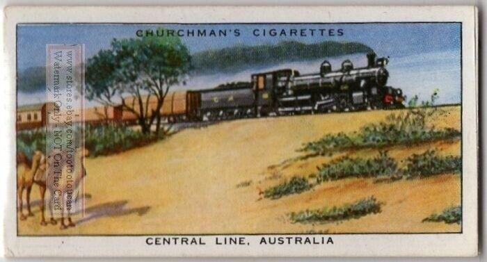 Central Australia Railway Narrow Gauge Track  c80 Y/O Trade Ad Card