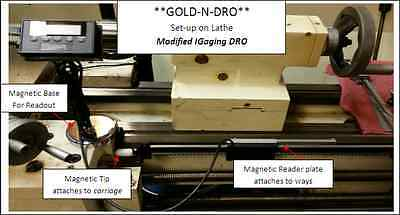 Gold-n-dro 12 X Axis Modified Igaging Magnetic Dro - Universal Kit