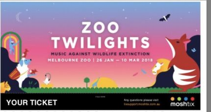 1x Ben Folds at the Melbourne Zoo Twilight Concert *SOLD OUT*
