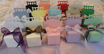 50 CHAIR FAVOR HOLDER BOX AND PLACE CARD HOLDER 14 COLORS TO CHOOSE FROM ()