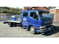 Mitsubishi canter Double cab Recovery truck 7 seater 3.5ton Low Mileage 75k Genuine