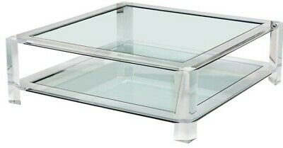 Interlude Home 119093 Surrey Grand Square Cocktail Table Glass Top Only