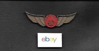 Sun Country Airlines Msp Kiddie Wings 1980S Gold Plastic Red