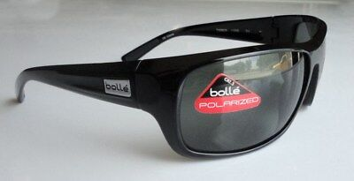 Bolle Timber 11590 Sunglasses Shiny Black Frames and Polarized TNS Lenses (Bolle Sunglasses Lenses)