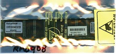 Kingston/rm0908; 128 Mb 168-pin Sdram, Dimm Memory Module. Pc133, 3.3 Volts.