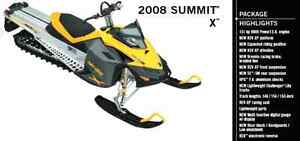 "2008 Skidoo Summit XP 163"" parting out"