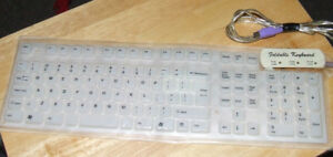 Foldable Wired Silicone Keyboard - Model Fold 2000 - $20.00