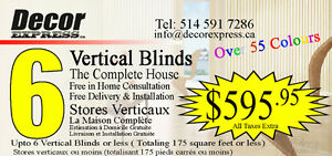 Complete House Condo Apartment of Vertical Blinds Blind
