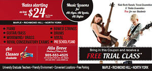 Advanced Academy of Music in Vaughan & King City Areas