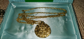 Peter Shorer vintage Antiquity Reproduction Girona Spanish gold coin