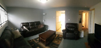 Furnished 2-bedroom lower level, walkout apartment available for