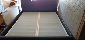 King Size Bed Faux leather (Sold)