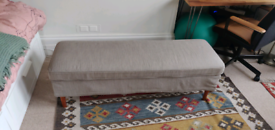 IKEA upholstered storage bench
