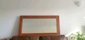 Large Solid Oak Bevelled Mirror
