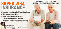 VISITOR/SUPER VISA INSURANCE RATES STARTING $1.10 CAD/day