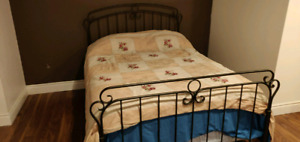 Double bed with mattress and box spring