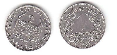 1 Mark Nickel Münze 3.Reich 1939 B, Jäger 354 (112107)