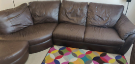 Corner sofa, stool and recliner chair
