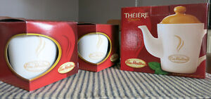 For sale: Tim Horton's Porcelain Teapot and Mugs