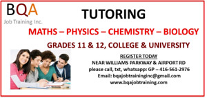 GRADES 5 TO 12 ALL SUBJECTS TUTORING IN BRAMPTON