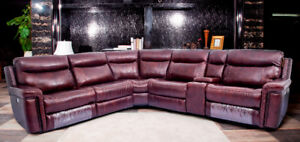 LEATHER MATCH 5-6 SEATER SECTIONAL SOFA FOR GRET DEAL NO TAX