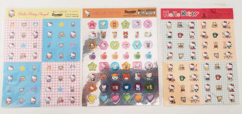 Vintage Sanrio HELLO KITTY & FREINDS Bear Fifi Thomas Angel Mini Stickers Sheets