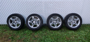 4 WINTER TIRES WITH AMG MAG 205/55R/16 FOR SALE