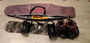 DC snowboard package with bag