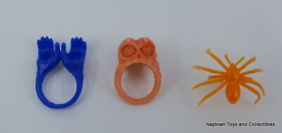 Halloween Vintage Spooky Rings Lot of 3 Plastic Rings Party Favors Vintage 1970s](1970s Party Favors)