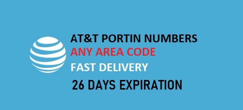AT&T Port in Number (Any Area Code) 26 Days Expiration - Quick Delivery