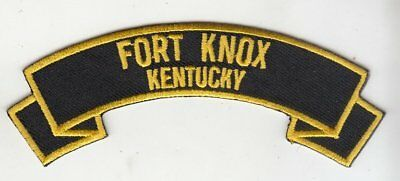 "Fort Knox  4"" rocker tab embroidered patch"