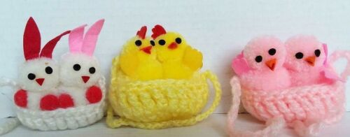 Crotchet Baby Animals Spring Easter baby Chicks Bunnies Roosters