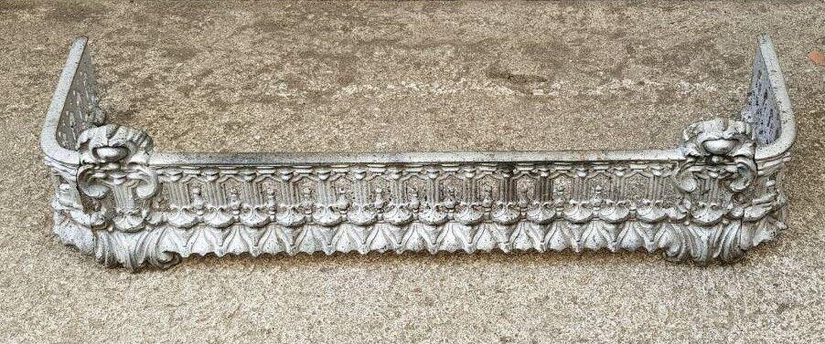 Victorian Cast Iron Fireplace Fender