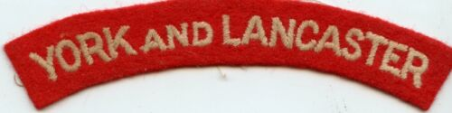 WWII Commonwealth York And Lancaster Shoulder Title / Patch